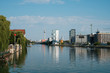 river Spree, Tv Tower from Oberbaum Bridge in  Berlin, Kreuzberg