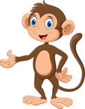 Happy monkey presenting