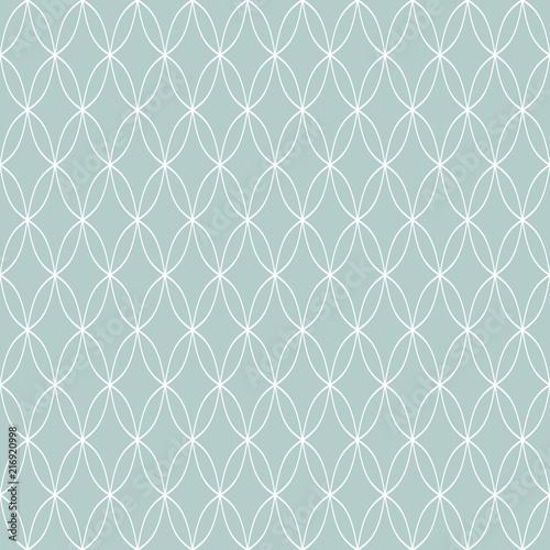 Seamless ornament. Modern background. Geometric modern blue and white wavy pattern - 216920998