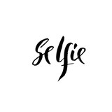 Selfie lettering. Ink illustration. Modern brush calligraphy. Vector illustration. - 216923157