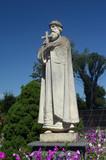 Garden of the Christian male monastery. Garden sculpture. Tomashevka,Kiev region - 216923907