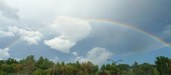 landscape of rainbow in the sky after thunderstorm © nd700
