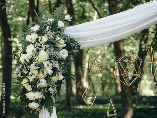 Wedding reception with flowers and decor