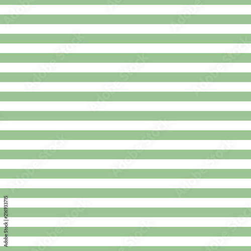 Seamless horizontal stripe pattern green and white. Design for wallpaper, fabric, textile. Simple background - 216933715