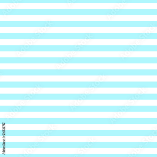 Seamless horizontal stripe pattern blue and white. Design for wallpaper, fabric, textile. Simple background - 216933717