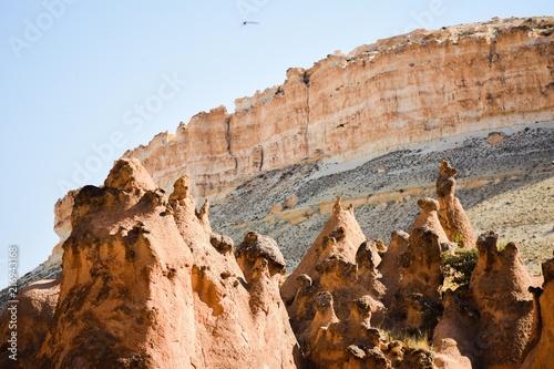 Foto Spatwand Zalm Cappadocia, Anatolia, Turkey. Goreme national park