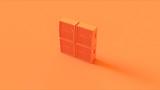 Orange Concert Speaker 3d illustration