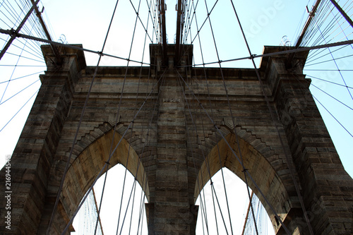 In de dag Brooklyn Bridge brooklyn bridge new york