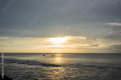 Plexiglas Bali Ocean View Sunset at Jimbaran beach in Bali, Indonesia