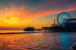 Quadro Visitors enjoy sunset above Santa Monica Pier in Los Angeles