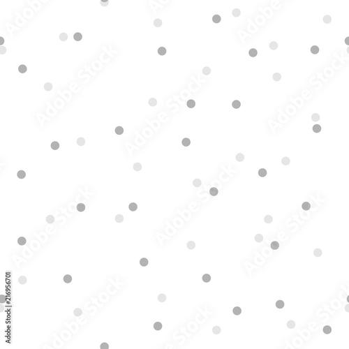 Fototapeta Seamless pattern with round light grey confetti