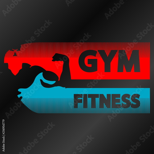 Sticker Gym and fitness banner