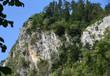 Quadro Berg mit schroffer Felswand vor strahlend blauem Himmel am Vierwaldstätter See