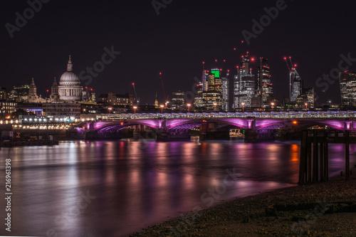 Plexiglas London London cityscape at night