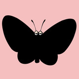 butterfly silhouette icon,vector drawing