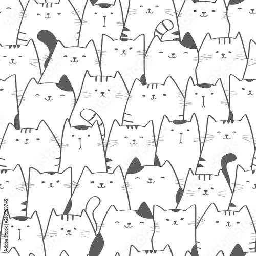 wzor-z-slicznymi-kotami-doodle-sztuki-kot-bez-szwu-recznie-rysowane-tla