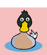 cartoon duck icon vector drawing - 216966108