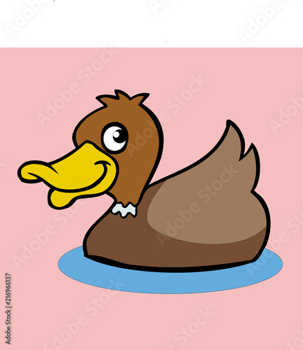 cartoon duck icon vector drawing | Buy Photos | AP Images | DetailView