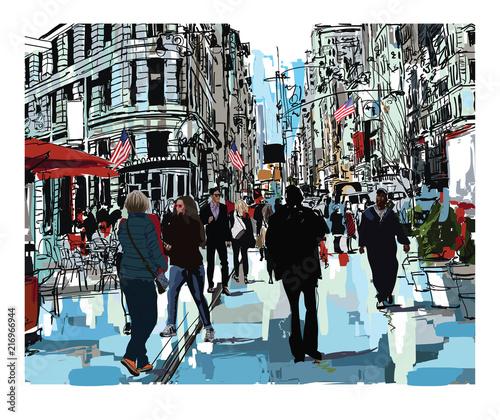 Foto Spatwand Art Studio Steet in New York city