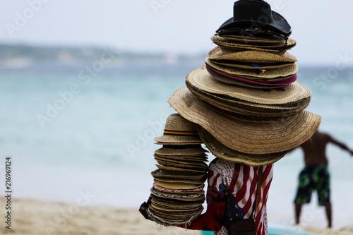 Plexiglas Zen Stenen Man with a lot of hats