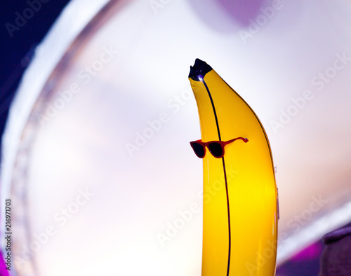 banana with sunglasses at concert - 216971703