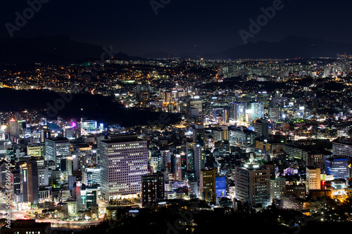 Aluminium Seoel Seoul bei Nacht