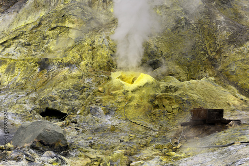 Sulphur vent on White Island near Whakatane