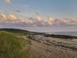 Pink Sunset Clouds on a Maine Coastline