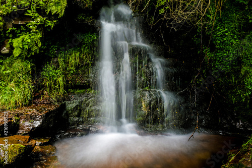 Waterfall in Brecon Beacons, Wales, UK - 216998525