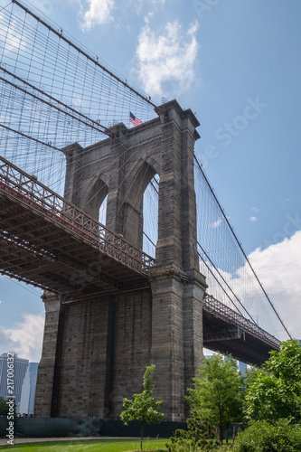 In de dag Brooklyn Bridge Brooklyn Bridge, New York City