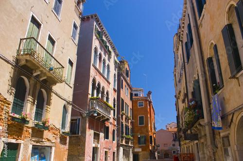 Architecture of narrow street of Venice, Italy