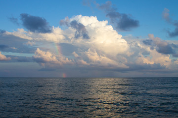 rainbow in the sky over the sea