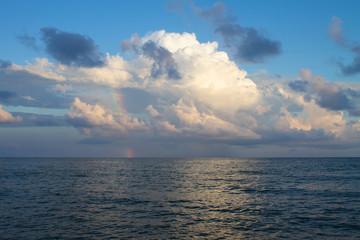 rainbow in the sky over the sea © vladimir
