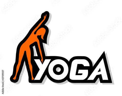 Obraz na płótnie yoga woman icon