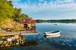 Leinwanddruck Bild - Schärengarten an der schwedischen Küste vor Stockholm