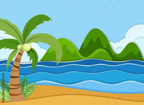Fotobehang Kids A summer beach landscape