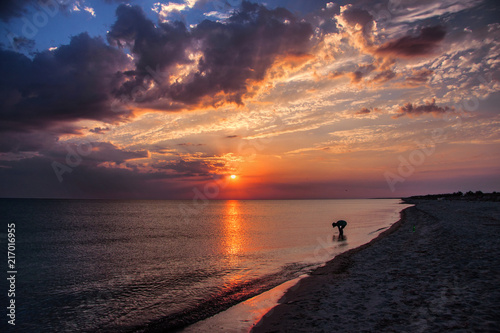 Foto Spatwand Strand Black Sea Coast