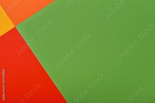 Foto Murales color paper geometric flat lay background