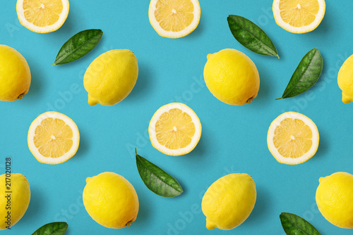 Colorful fruit pattern of lemons - 217020128