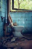 old broken toilet - 217026358