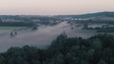 Mornign fog among the trees - 217028715