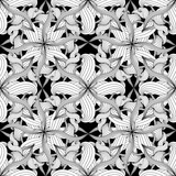 Intricate abstract black and white floral vector seamless patter - 217031187