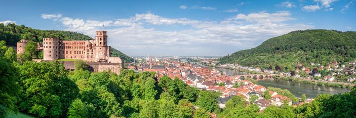 Heidelberg Panorama mit Altstadt und Schloss © eyetronic