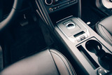 Chic car interior in leather seats