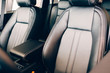 Chic leather seats car interior