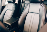 Chic leather seats car interior - 217041572