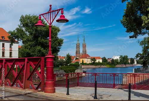 Wrocław - widok na katedrę