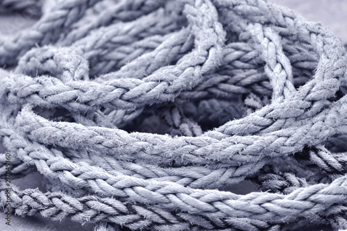 Nautical old rope knot background
