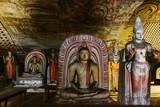 Interior of buddhist temple from Sri Lanka