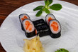 Japanese Maki roll with salmon